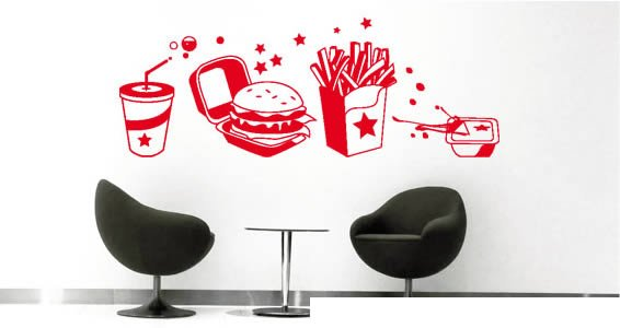The Ultimate Burger Party Kit -wall decals
