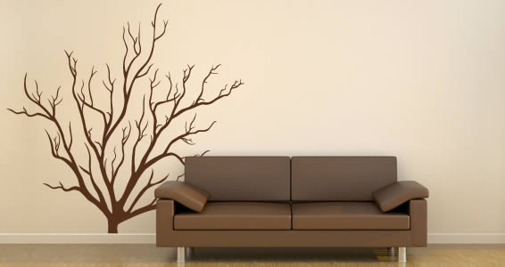 Bush branches wall decals