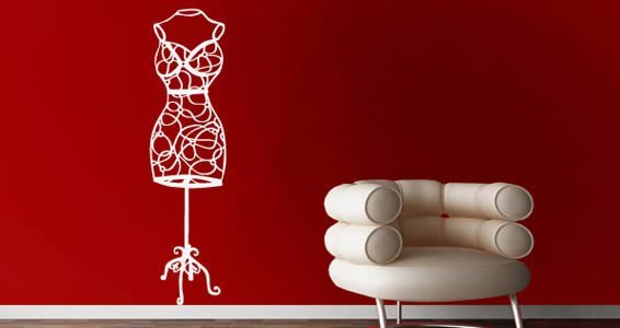 Deco Bust wall decal