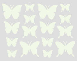 Glow in the dark butterfly wall decals