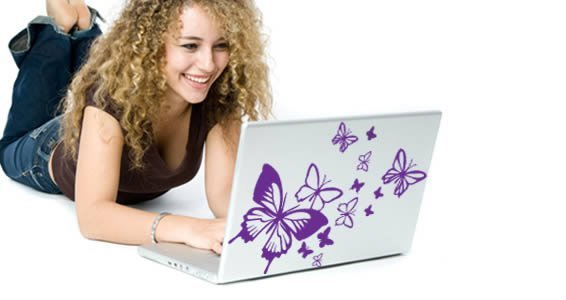 Flying Butterflies laptop stickers skin