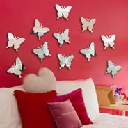 Mini Butterflies Wall Mirrors