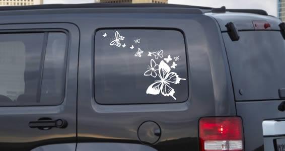 Butterflies in the Wind car sticker