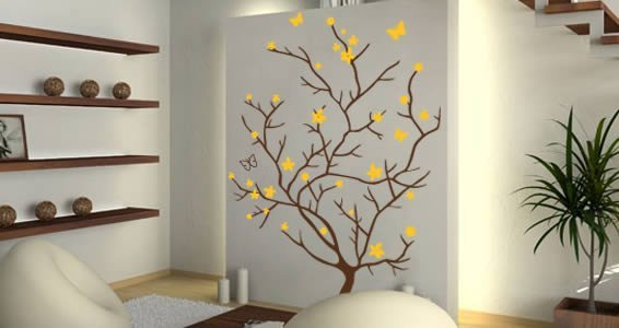 Butterfly Branch vinyl wall appliques