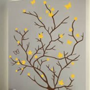 Butterfly Branch wall decals