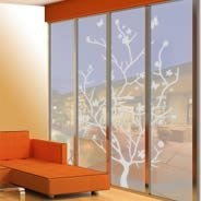 Butterfly Branch frosted window decals