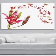 Floral Butterflies photos printed on canvas