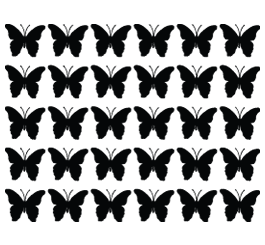 Mini Butterflies wall decals set