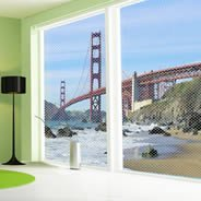 Golden Gate Bridge see through window decals