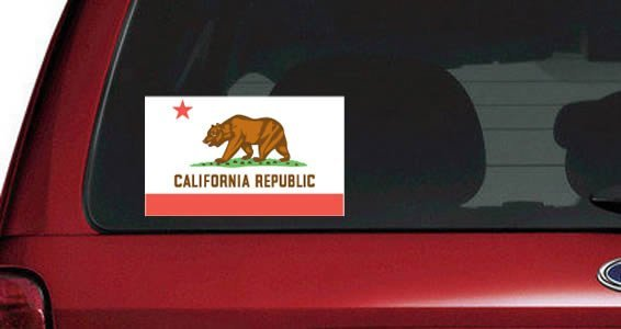 US States Flags car decals