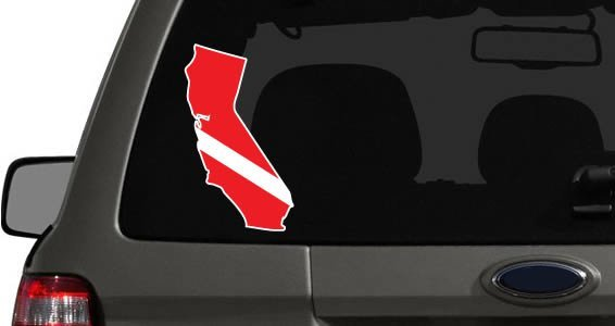SCUBA US States car decals