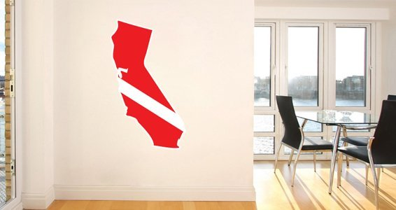 SCUBA US States wall decals