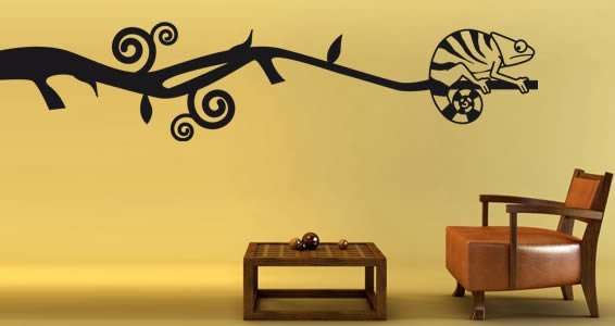 Cameleon removable wall decals
