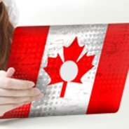 Canadian Flag iPad decals skin