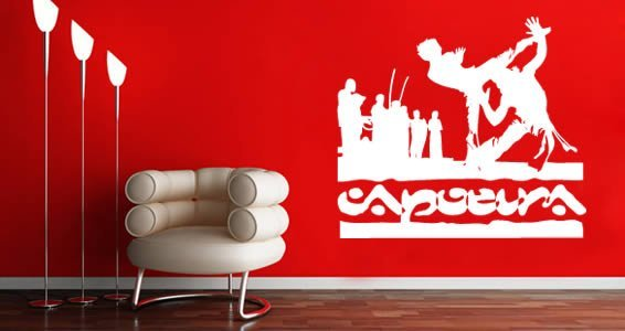 Capoeira wall decals