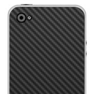 Black Carbon Fiber iPhone decals skin