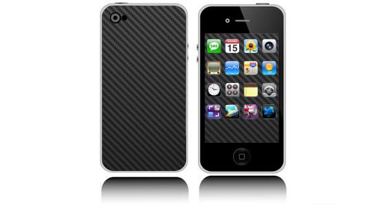 Black Carbon Fiber iPhone decals skin