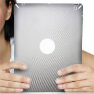 Silver Carbon Fiber iPad decals skin