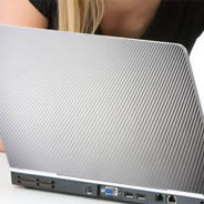 Silver Carbon Fiber laptop decals skin