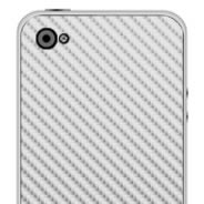 Silver Carbon Fiber iPhone decals skin