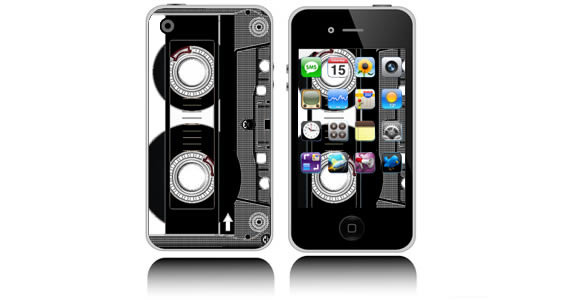 Cassette Tape  iPhone decals skins