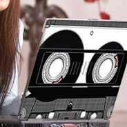 Cassette Tape laptop decals skin