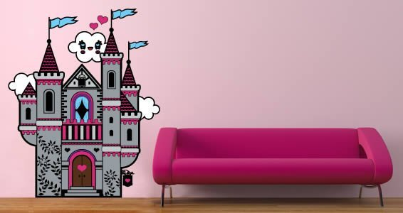 Fairy Castle wall appliques by Charuca