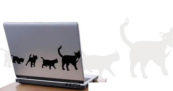 Cats -laptop skin stickers