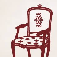 Armchair wall stickers