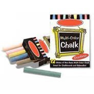 White and Multi-Color Artist Chalk Packs