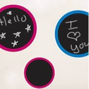 Color chalkboard Circles  wall stencils