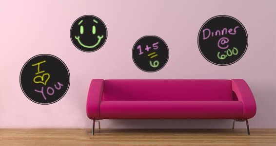 Chalkboard Circles wall decals