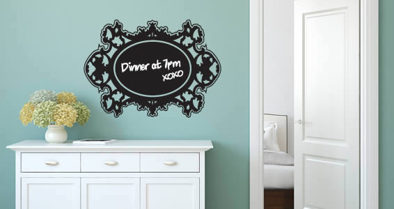 Rococo Frame Chalkboard Decal Dezign With A Z - Wall decals you can write on