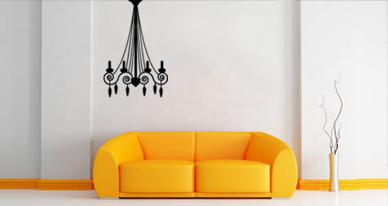 Candelabra wall decals