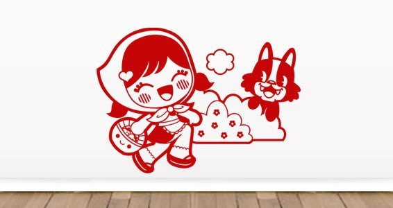 Chaperon Rouge vinyl wall decal