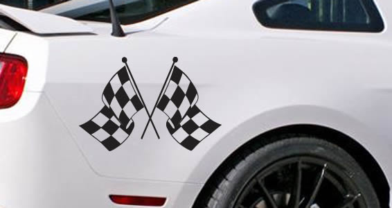 Checkered Flag car decals