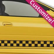 Checkered Line car decal