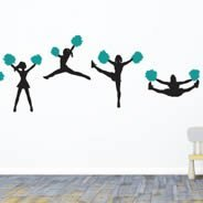 Cheerleader Squad wall decals