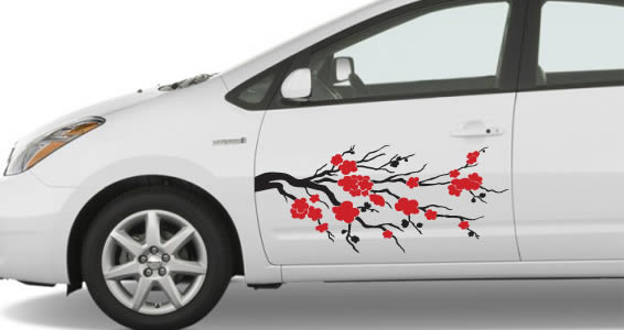 Cherry Blossom Car Decals Dezign With A Z - Car sticker decals