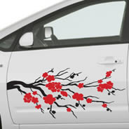 Cherry blossom car decals