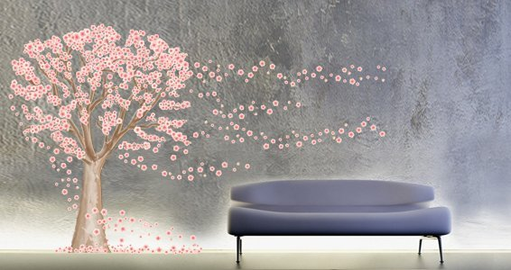 Cherry Blossom Tree Wall Decals Part 65