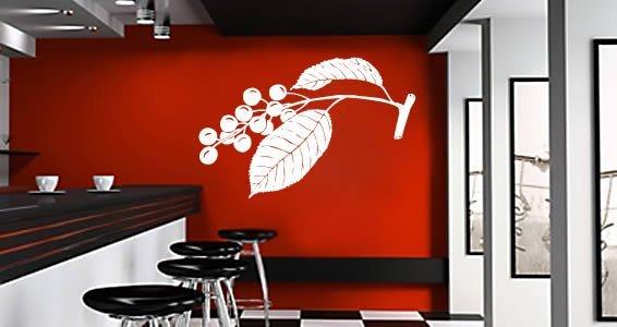 Cherry Leaf wall decals
