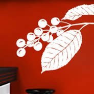 Cherry Leaf wall decals