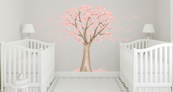 ... Cherry Blossom Tree Wall Decals Part 98