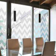 Chevron  frosted window decals