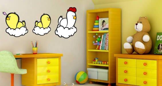 Family Chicken wall stickers by ZaZ