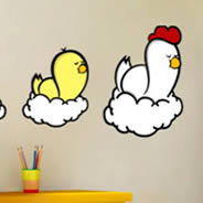 Family Chicken wall stickers by ZaZ