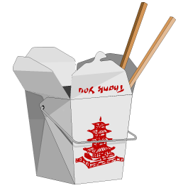 Take Out Chinese Boxes Dry-Erase Decal
