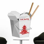 Chinese Take Out Box wall decals