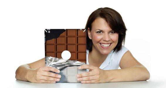 Choco Bar iPad decals skin
